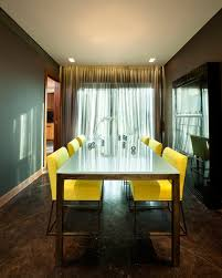 dining room yellow color curtain