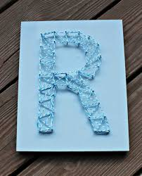 Nail String Art Letter ...