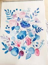 Easy Floral Designs To Paint Paint Freehand Watercolour Floral Art Surely Simple