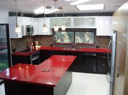 unthinkable red quartz countertop manufacturer supplier factory deer kitchen albertum wine and black color with fleck