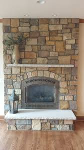 gold rush natural thin veneer from general shale rock with limestone mantel hearth 864 basement wallsgas fireplacesfireplace