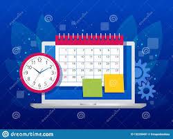 Online Planning Calendar Flat Weekly Schedule And Calendar Planner Organization Management