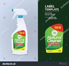 Spray Bottle Label Design Bottle Label Package Template Design Label Stock Vector