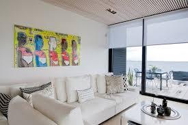 modern beach house living. White Minimalist Living Room In Modern Beach House Sweden