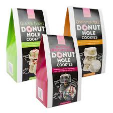 donut hole cookies 3 piece set with old fashioned chocolate glazed and cinnamon roll donut hole cookies