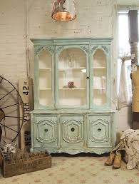 cottage chic furniture. painted cottage chic shabby aqua china cabinet by paintedcottages 59500 furniture