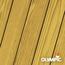 Olympic Maximum Solid Color Stain Color Chart Olympic Maximum 1 Gal Honey Gold Exterior Stain And Sealant In One