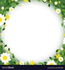 Flower Edge Design Green Floral Edges