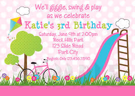 printable birthday invitations girls park party girls printable birthday invites