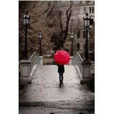 girl walking over bridge with red umbrella canvas wall art  on girl with umbrella wall art with girl walking over bridge with red umbrella canvas wall art 15 x 19