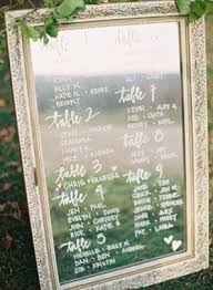 Mirror Table Seating Chart Seating Chart Signs Mywedding