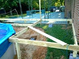 building a pool deck how to build a deck around an above ground pool awesome building
