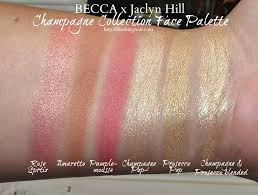 becca cosmetics jaclyn hill chagne collection face palette makeup swatches review photos first look