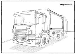 Vrachtwagen Kleurplaat