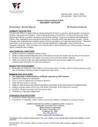 Hospitality Security Guard Cover Letter Mitocadorcoreano Com
