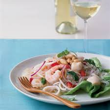 Thai Seafood Noodle Salad Recipe - Anya ...