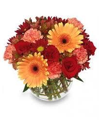hot y vase of flowers