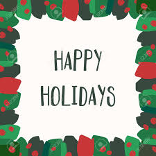 Happy Holiday Card Templates Christmas Greeting Card Template With Green And Red Brushstrokes