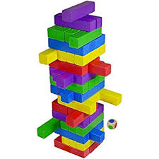 Game Played With Wooden Blocks Amazon CoolToys Timber Tower Wood Block Stacking Game 17
