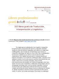 315 Libros Gratis De Traducción | Multilingualism | Language ...