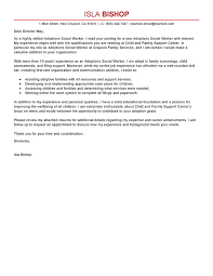 Best Adoptions Social Worker Cover Letter Examples Bunch Ideas Of