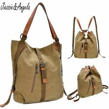 New 2018 <b>backpack</b> vintage canvas <b>women</b> bag shoulder bag ...