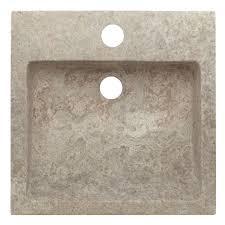 Square Sinks Bathroom Tall Bowl Travertine Square Vessel Sink Bathroom