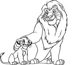 Small Picture lion king and son coloring pages pictures Free Coloring Book Picture