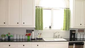 Decorating Kitchen Windows White Stained Wooden Window On Beige Painted Wall Using Wite