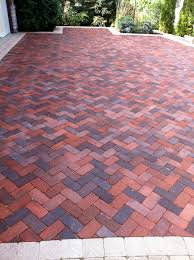 Brick Herringbone pattern for patio/driveway.