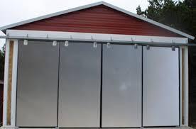 exterior sliding barn doors. Weatherproof Aluminum Exterior Sliding Barn Doors Without Vinyl Graphics At The Ok Corral - Non-warping Patented Honeycomb Panels And Door Cores Y