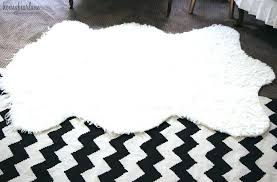 fur accent rug lovely runner for kitchen amazing faux rugs white small black sheepsk