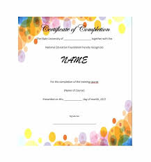 Certificate Of Completion Templates 40 Fantastic Certificate Of Completion Templates Word