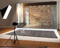 Laeacco Sonnenschein Fenster Ziegel Innenwand Fotografie