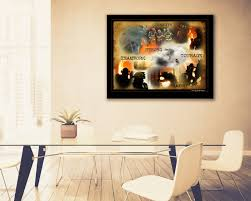 artwork for the office. Firefighter Inspirational Fine Art Print Artwork Home And Office Decor - Strength Teamwork Heroes Courage Bravery For The