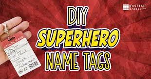 Make Your Own Identification Card Superhero Identification Badges For Kids Onlinelabels Com