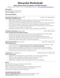 Videographer Resume Videographer Resume Resume Templates 2