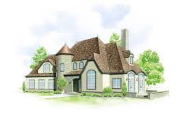 This home style is inspired by French architecture that found its way to  America after World War I.