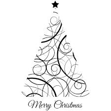 Christmas Swirls Modern Swirls Christmas Tree Craft Stamp