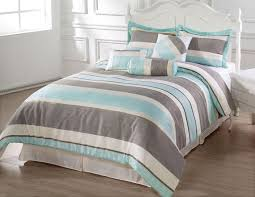 light blue and white striped comforter sevenstonesinc