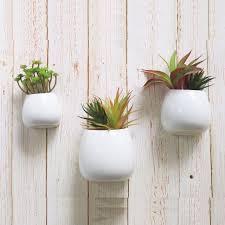 3 pcs wall mounted ceramic flower plant vase hanging planters modern ceramic