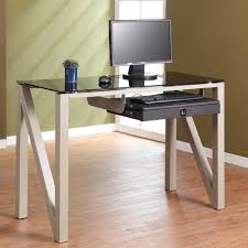 office space savers. Glass Computer Desk For Elegant Appearance Office Space Savers