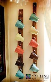 wall rack 30 fun and practical diy coffee mugs storage ideas for your home photo details from