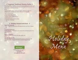 Holiday Menu Applause Catering Events Holiday Menu