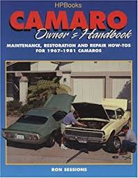 camaro rs ss z factory assembly manual reprint camaro owner s handbook hp1301