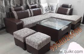 Designer New 3 Sitter diwan table glass 2 puffy Brand Home