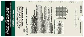 Moa Shooting Chart Accuscope Scope Sighting Reference Chart