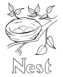 Small Picture Small Pic Of Nest To Color Coloring Coloring Pages