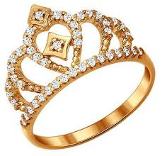 <b>SOKOLOV Позолоченное кольцо корона</b> 93010366 — купить по ...