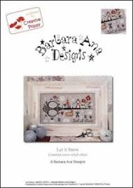 Details About Barbara Ana Designs Counted X Stitch Chart Let It Snow